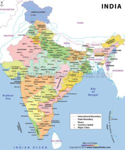 Size and Location of India: India and the World with Questions and