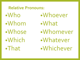 relative pronouns concepts classification videos and solved examples