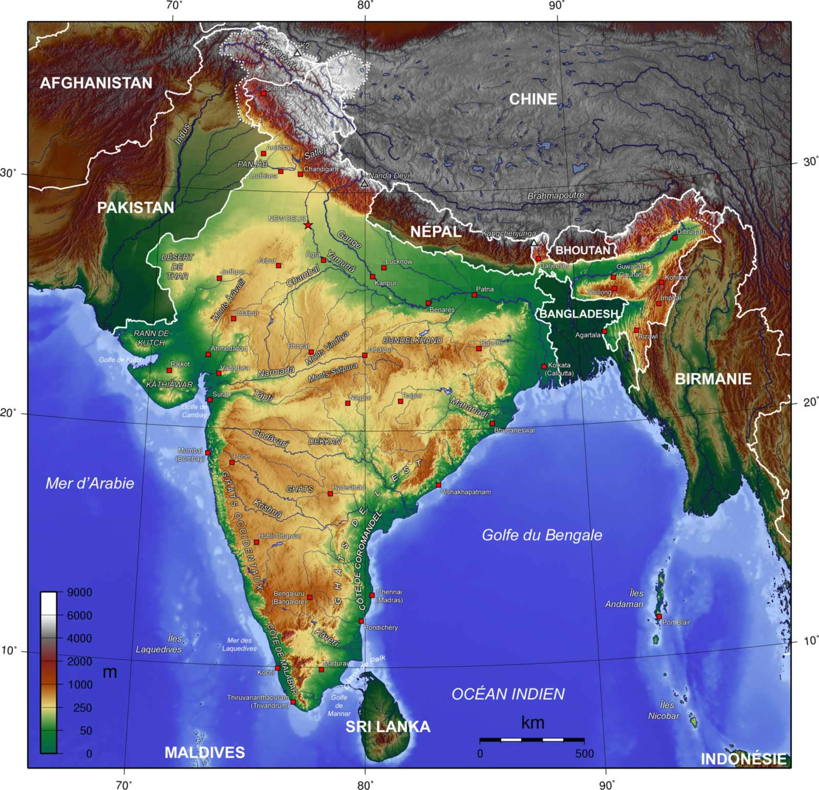 Introduction to Indian Geography: Boundaries, Physical