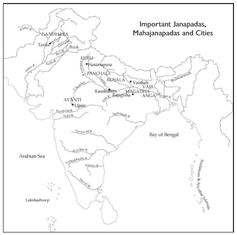 Map of Mahajanapadas