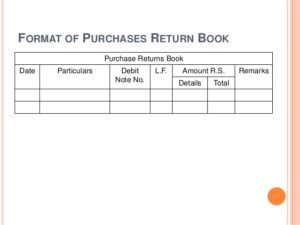Purchase Return Format