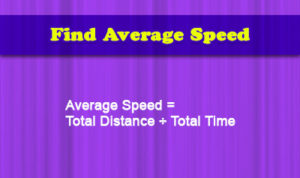 Average Speed: Formula, Videos, Examples and Practice Questions