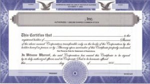 issue-of-share-certificate