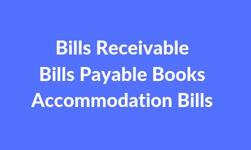 Bills Receivable