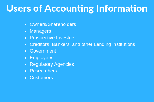 users of accounting information system