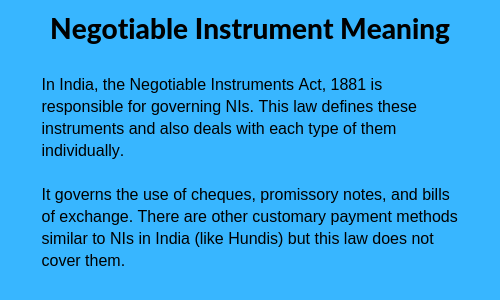 advantages of negotiable instruments