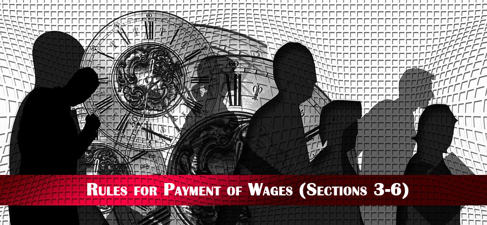 rules for payment of wages