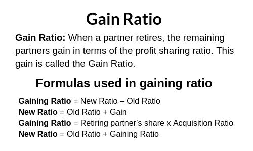 Calculation of Gaining Ratio