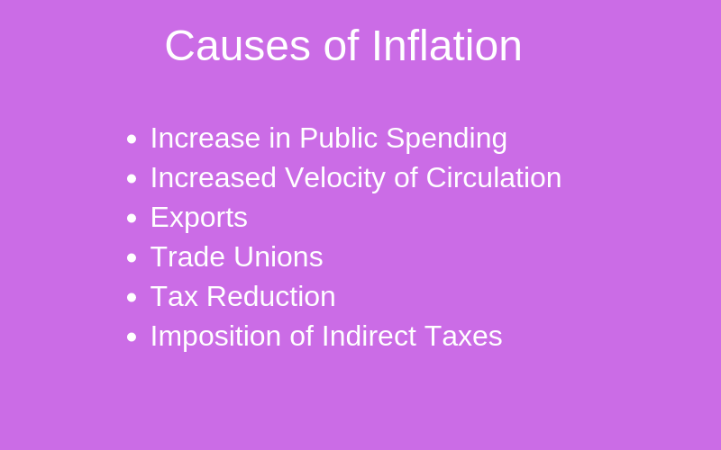 Causes of Inflation: Meaning, Definition, Reasons of Inflation