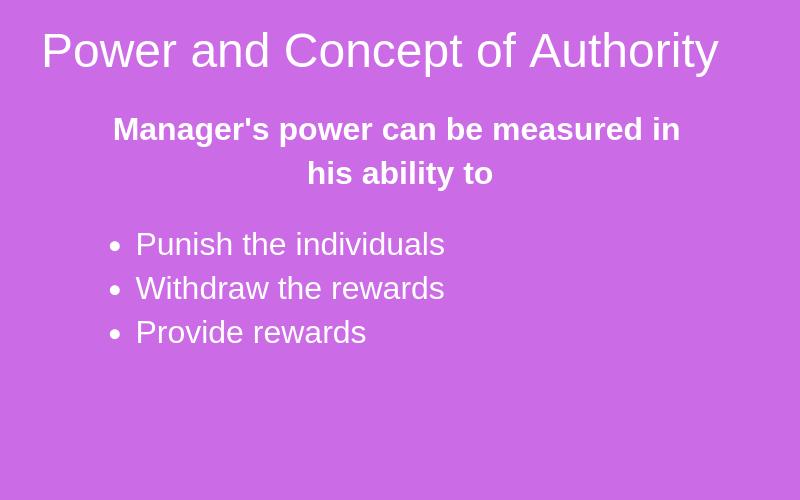 Concept of Authority