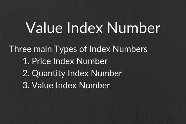 value index number