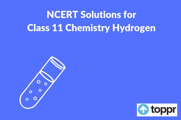 class 11 hydrogen ncert solutions