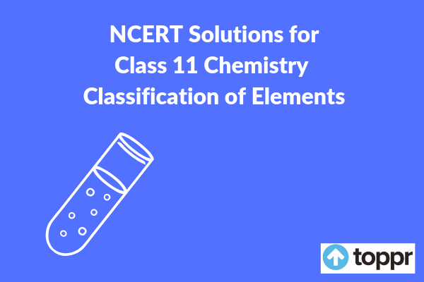 NCERT Solutions for Class 11 chemistry chapter 3