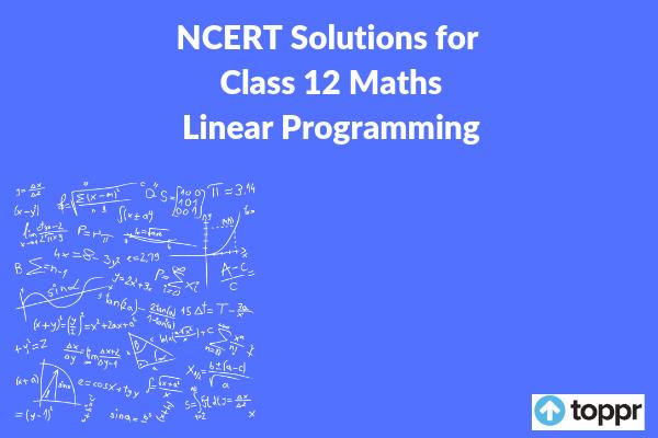 ncert solutions for class 12 maths chapter 12