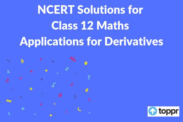 ncert solutions for class 12 maths chapter 6