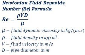 Reynolds Number Formula