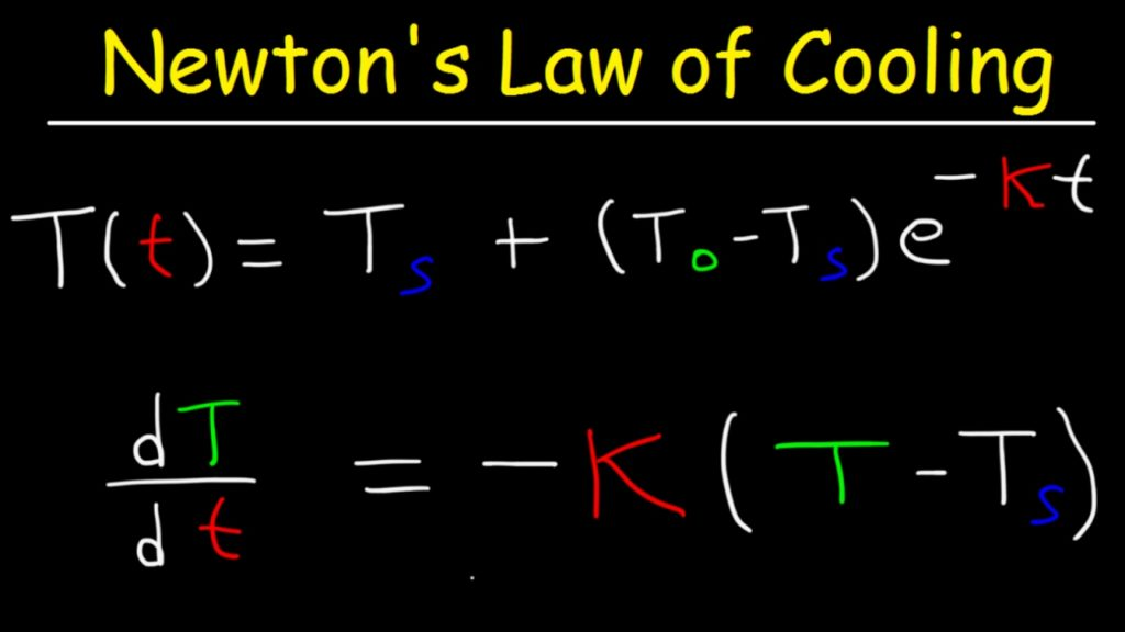 newton's law of cooling formula