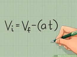 initial velocity formula