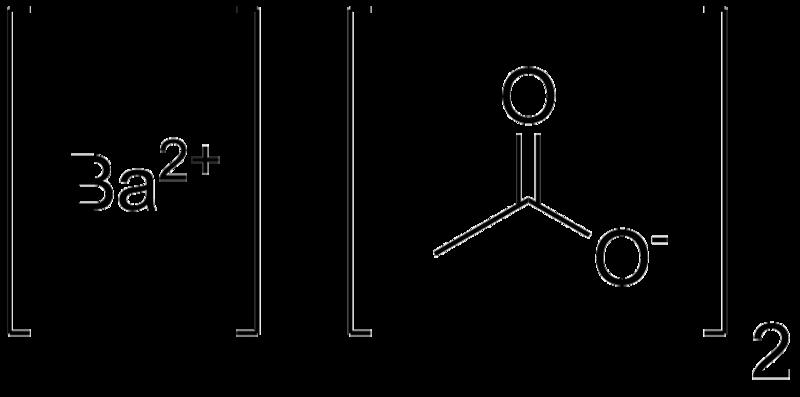 Barium Acetate Formula