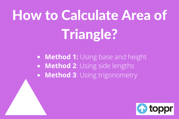 how to calculate area of triangle