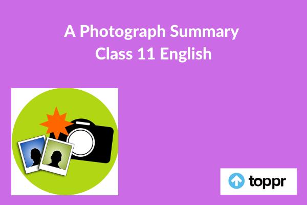 a photograph summary