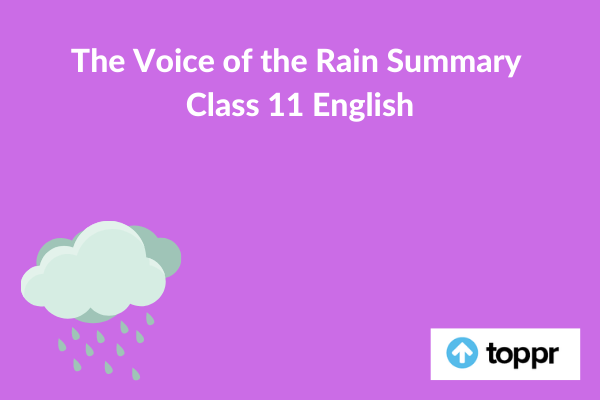 the voice of the rain summary