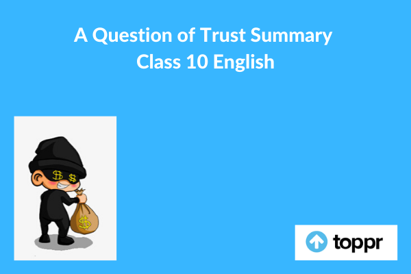 a question of trust summary
