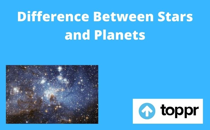 difference between stars and planets