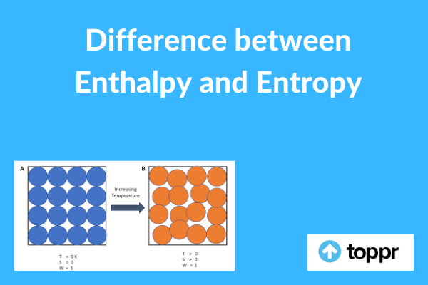 difference between enthalpy and entropy