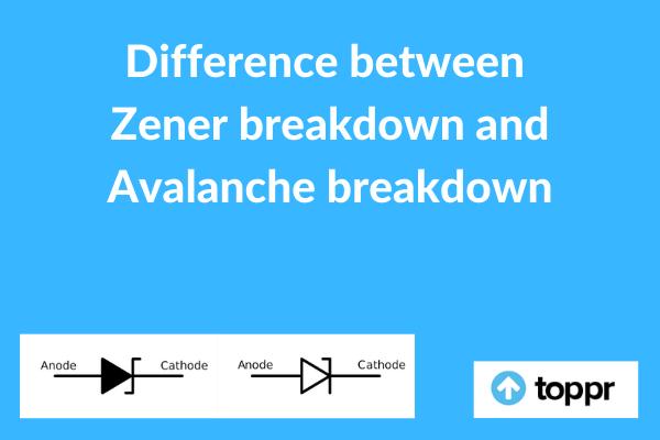 Difference between Zener breakdown and Avalanche breakdown