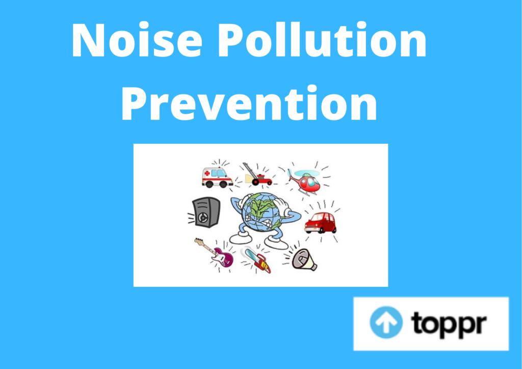noise pollution prevention