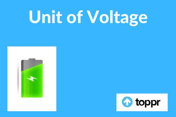 Unit of voltage