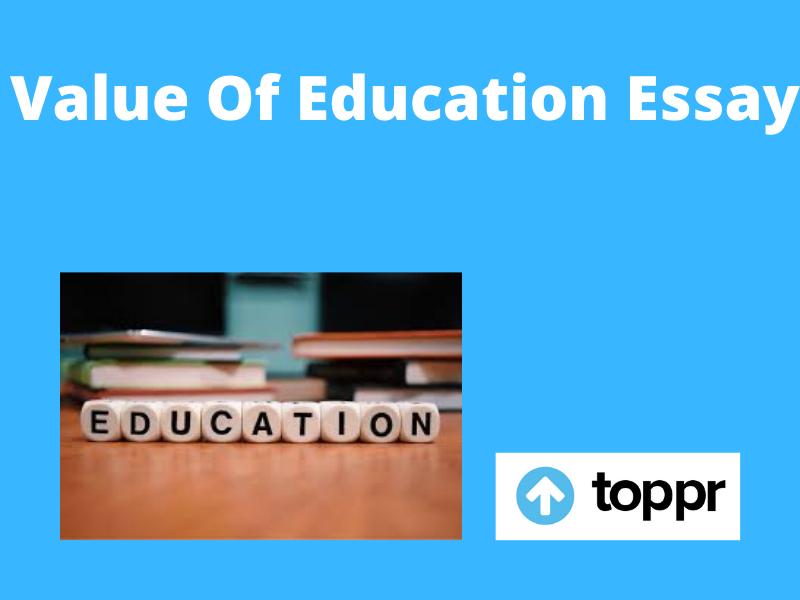 value of education essay